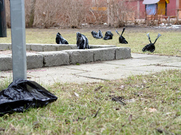Black plastic bags